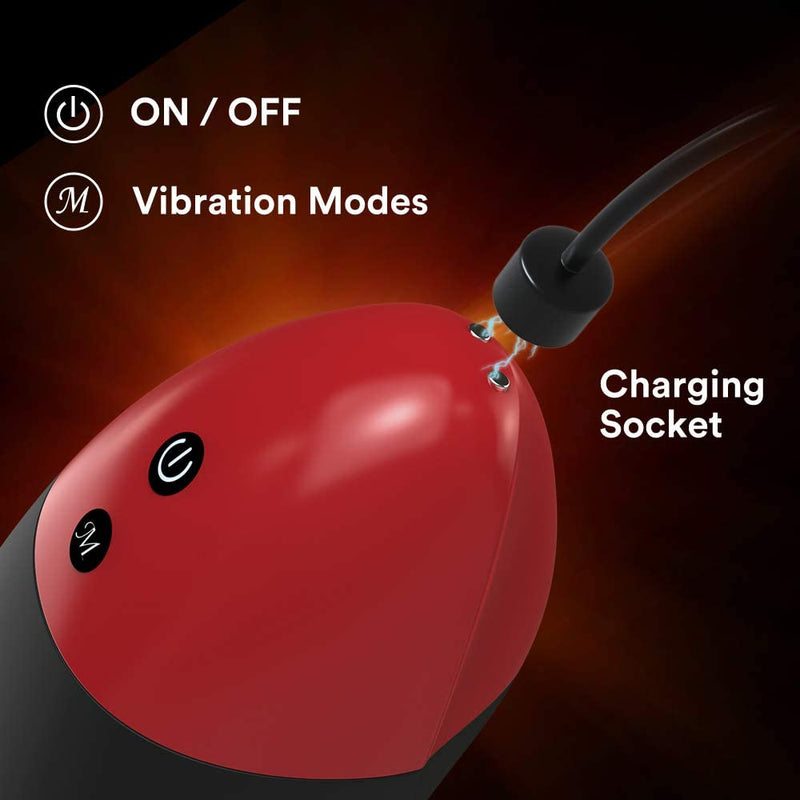 10 Modes Vibrator Heating Blowjob Male Masturbation Cup
