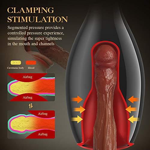 2020 New Inflatable Pump Clamping Shrinking Vagina Male Masturbator Device