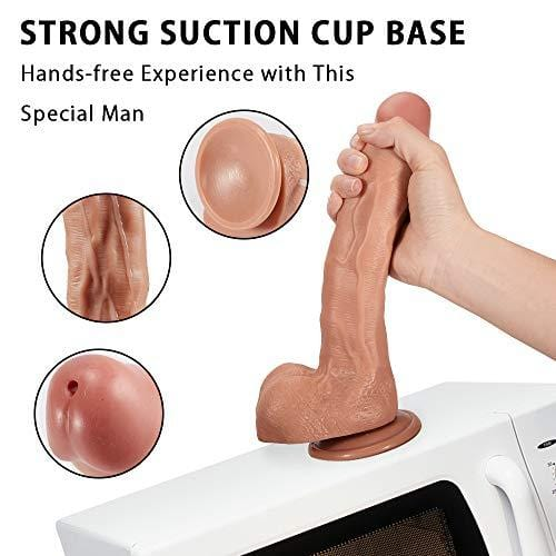 "9.5"" Squirting G-spot Ejaculating Dildo with strong suction cup"