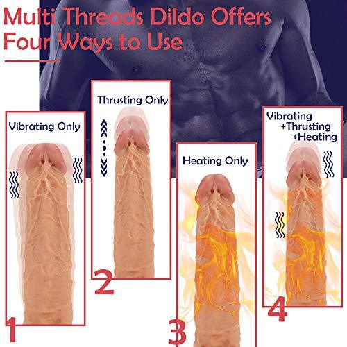 3 Fuctions Multiple Combination Life Like Dildo