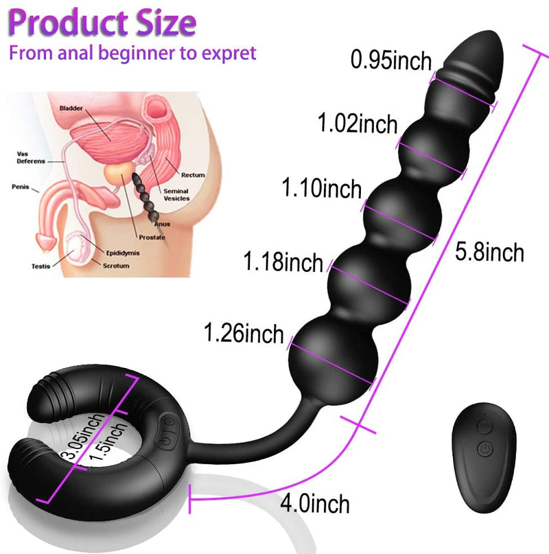 10 Vibrations Dual Motor Remote Control Couples Toy Prostate Massager