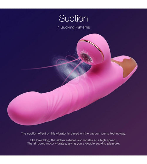 7 Modes Clit Sucking G Spot Thrusting Rabbit Vibrator Sex Toy