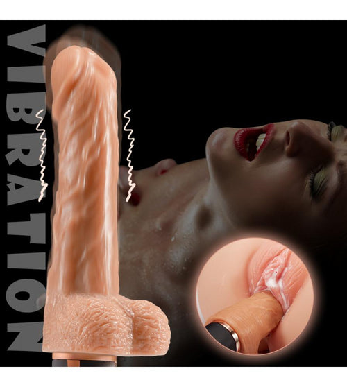 JEUSN Heating Automatic 10 Vibrating Telescoping Realistic Dildo