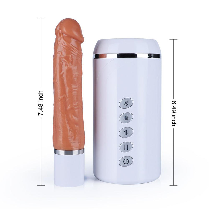 OMYSKY 6-Frequency 3-Speed Telescoping Voice Dildo