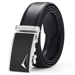 Mach Automatic Black Leather Belt - For Real Deals