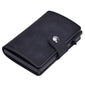 Slim Pop-Up Clip Leather Card Wallet (Black) - For Real Deals