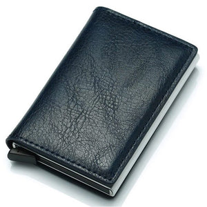 Slim Pop-Up Leather Card Wallet (Black) - For Real Deals