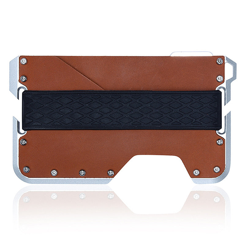 Aluminium Tactical Card Wallet w/ Bottle Opener (Brown) - For Real Deals