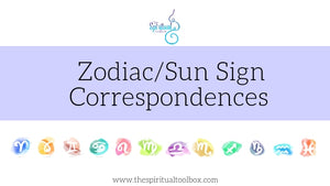 Astrological Zodiac // Sun Sign Crystal Correspondences