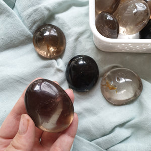 Smokey Quartz Palm Stone