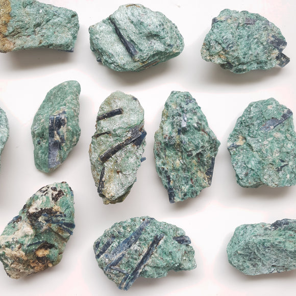 Blue Kyanite in Fuchsite