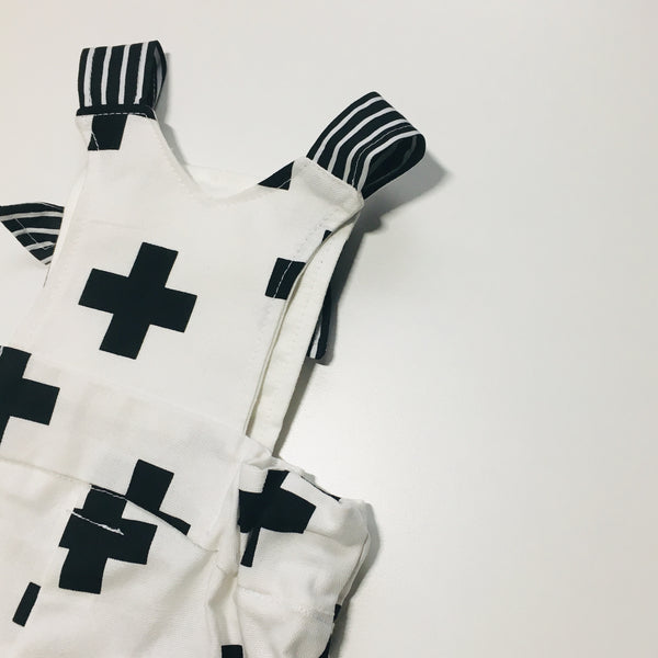 Unisex Crosses Short Overalls
