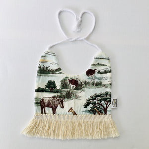 Wildlife Tassel Bib