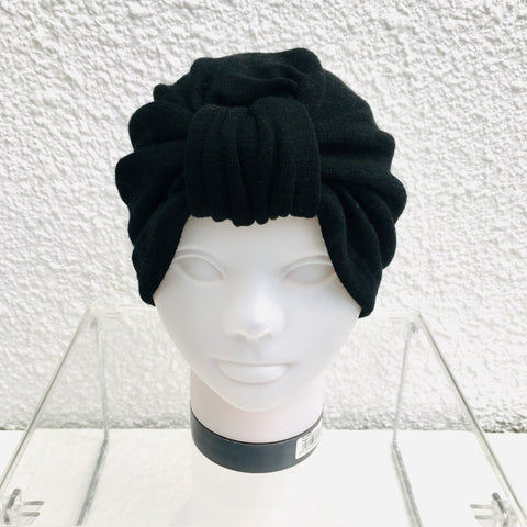 Black Merino Turban