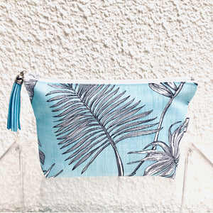 Tropical Palm Blue Purse