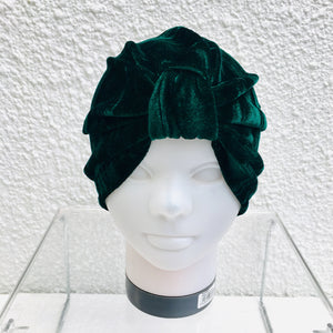 Emerald Crushed Velvet Turban