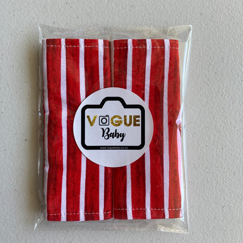 Xmas Candy Stripe Strap Covers