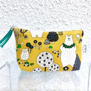 Mustard Woodland Bears Purse