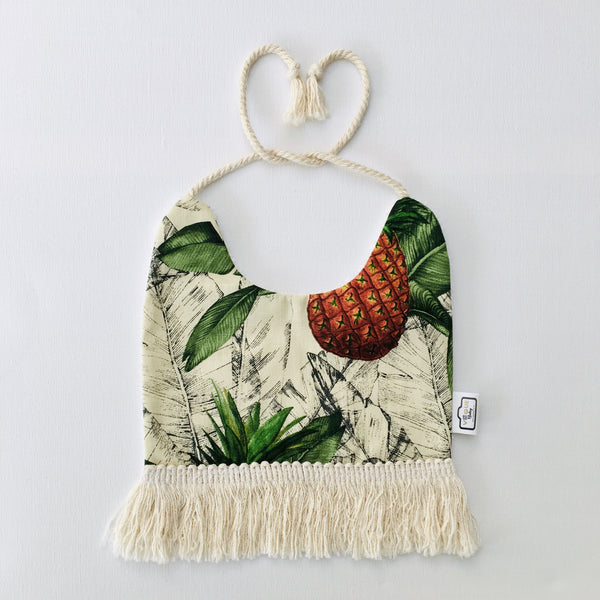 Tropical Plant Tassel Bib