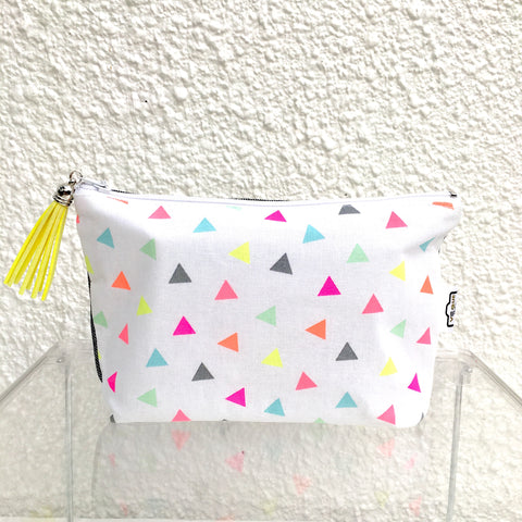 Fluoro Triangles Purse