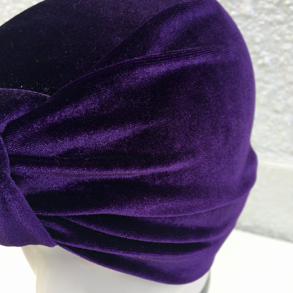 Purple Rain Luxe Velvet Turban