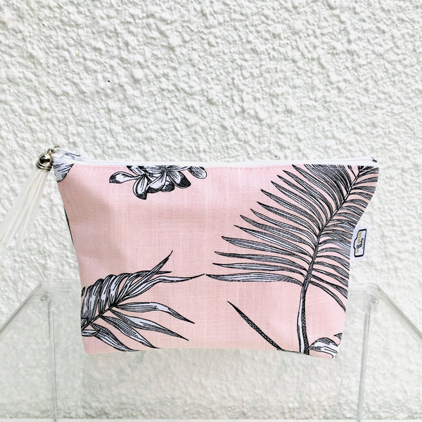 Tropical Palm Blush Purse