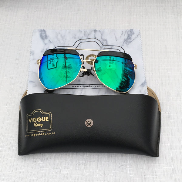 Vegas - Black/Green  - Sunglasses