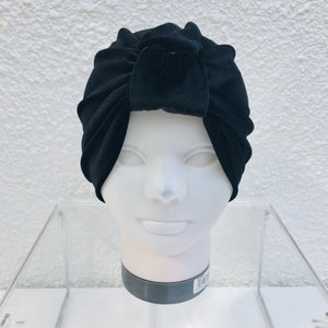 Black Luxe Velvet Turban