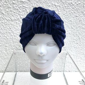 Midnight Crushed Velvet Turban