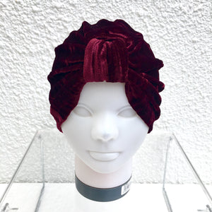 Ruby Crushed Velvet Turban