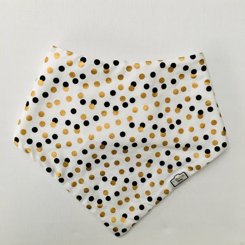 Speckle Golden Bandana Bib