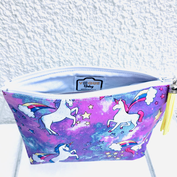 Glitter unicorn Purple Purse