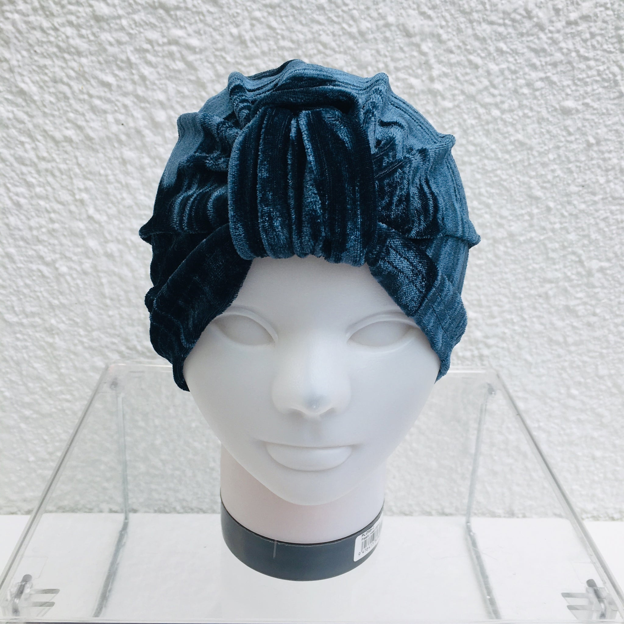 Pewter Crushed Velvet Turban