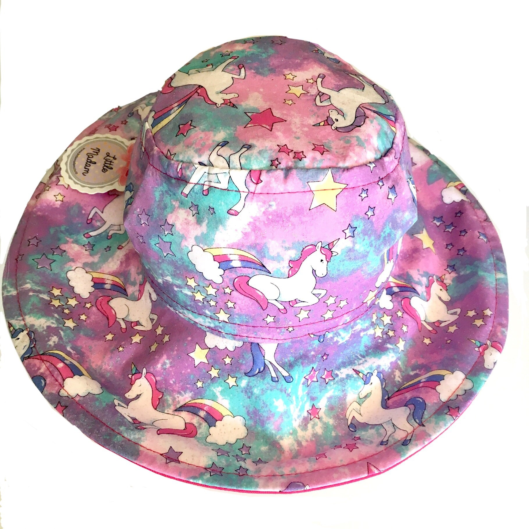 Glitter Unicorn Purple Hat