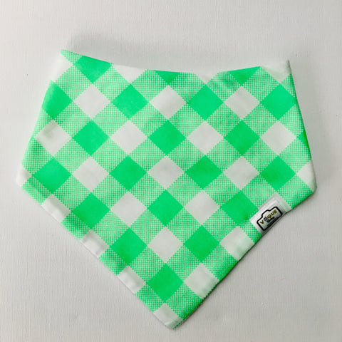Check Lime Bandana Bib