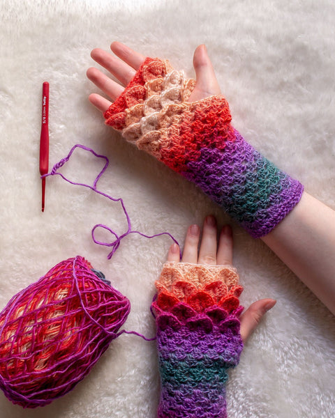 Dragon Scale Gloves Crochet Pattern PDF (2020)