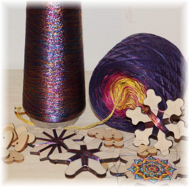 READY TO SHIP - SUPERNOVA - 725-720-745 + RAINBOW GLITTER 200/3ply