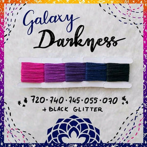 GALAXY DARKNESS  725-370-720-740-745-055-black glitter