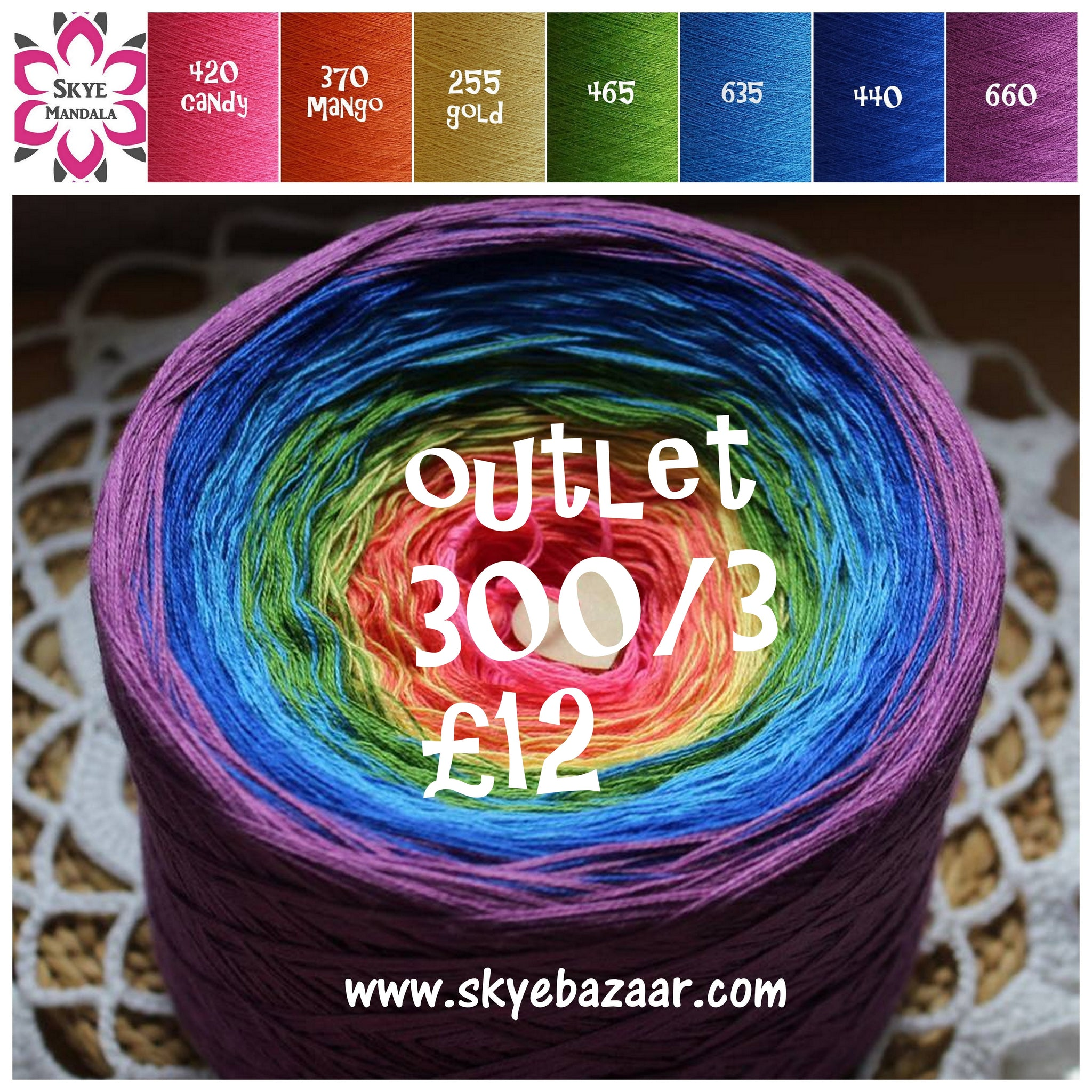 Skye Mandala Yarn OUTLET 420-370-255-465-635-440-660