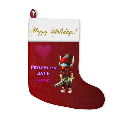 """Delivered With Love!"" Christmas Stockings (Plain)"