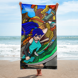Quest Of The Gummy Witch: City Patrol (Beach Towel)