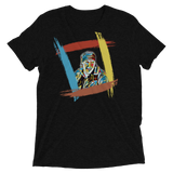 "King Of The Kickboxers:  ""I Care Jackson!!!"" T-shirt - Rainbow Black/No Text"