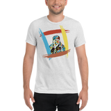 "King Of The Kickboxers:  ""I Care Jackson!!!"" T-shirt - Rainbow White/ No Text"