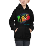 "LA ""Just Kick It!"" Hoodie – Rainbow Black – Kids"