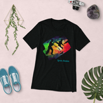 "Loren Avedon ""Just Kick It!"" Rainbow T-shirt - Black"