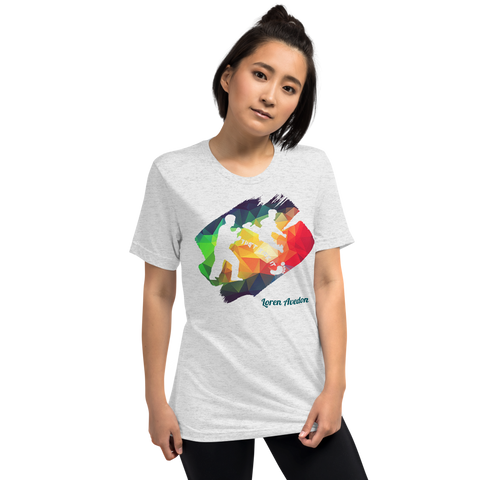 "Loren Avedon ""Just Kick It!"" Rainbow T-shirt - White"