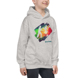 "LA ""Just Kick It!"" Hoodie – Rainbow Grey – Kids"