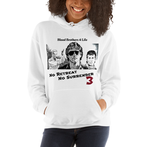 "NRNS3 ""Blood Brothers 4 Life"" Hoodie #1 – White"