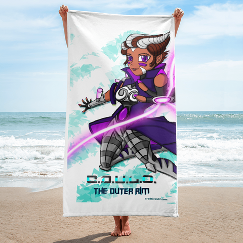 C.D.U.L.O.: Ensign Randy! Beach Towel (Ice Blue)