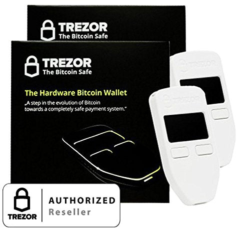 Trezor Hardware Wallet White - 2 Combo Pack